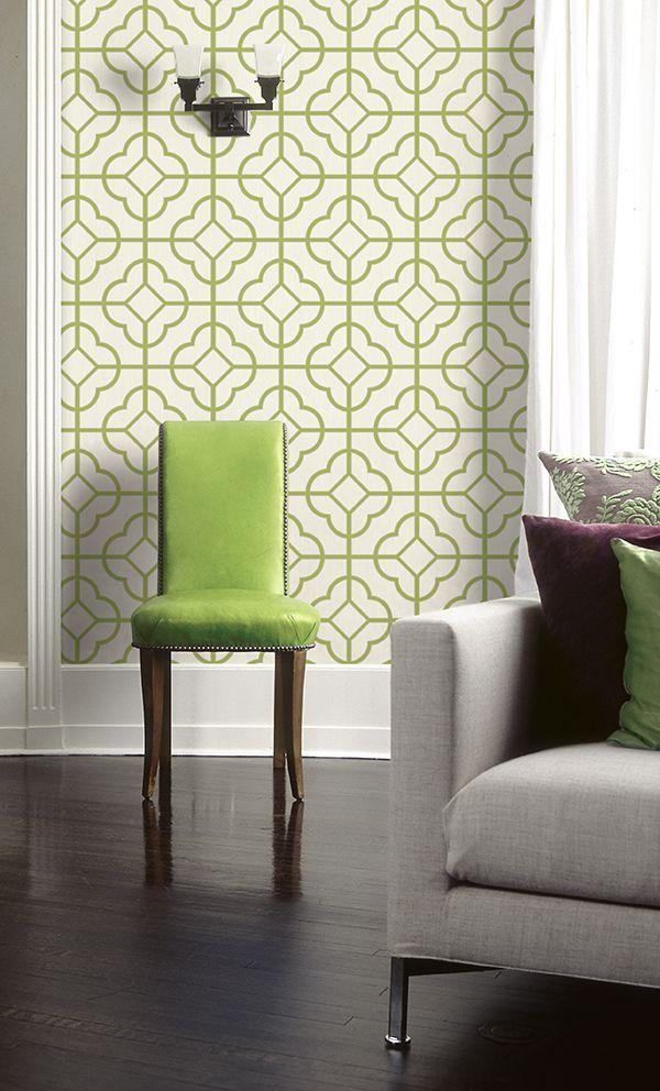 papier-peint-geometrie-vert