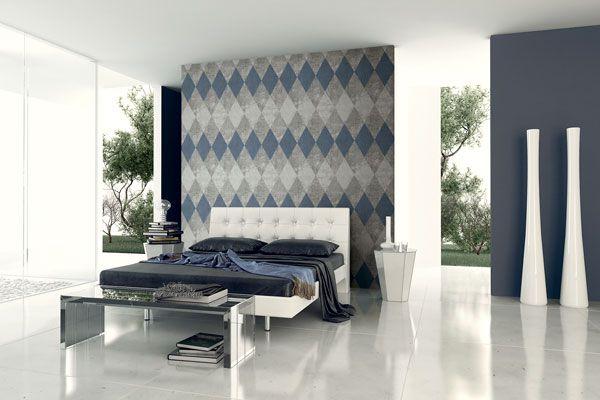 Motif g om trique papier peint motifs tapisserieartella - Papier peint losange ...