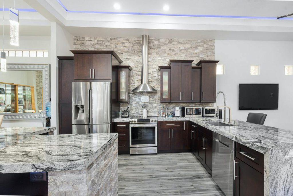 cuisine design en marbre